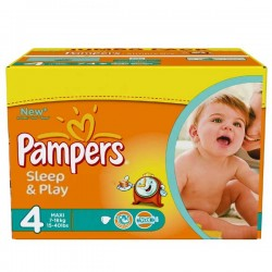 Pampers - Mega pack 150 Couches Sleep & Play taille 4 sur Couches Poupon