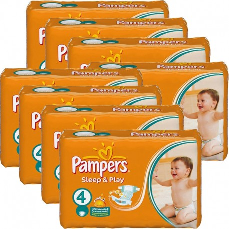 Pampers - Maxi giga pack 350 Couches Sleep & Play taille 4 sur Couches Poupon