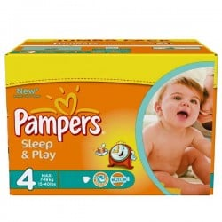 Pampers - Maxi mega pack 450 Couches Sleep & Play taille 4