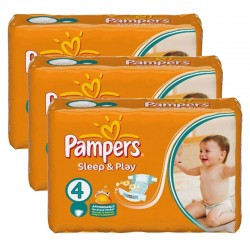 Pampers - Mega pack 100 Couches Sleep & Play taille 4 sur Couches Poupon