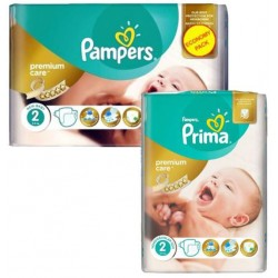 Pampers - Mega pack 110 Couches New Baby Premium Care taille 2 sur Couches Poupon