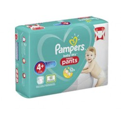 Pampers - Pack 35 Couches Baby Dry Pants taille 4+ sur Couches Poupon