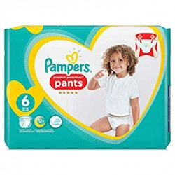 Pampers - Pack 37 Couches Premium Protection Pants taille 6 sur Couches Poupon