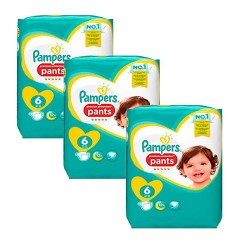 Pampers - Mega pack 111 Couches Premium Protection Pants taille 6 sur Couches Poupon