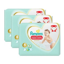 Pampers - Pack 57 Couches Premium Protection Pants taille 4 sur Couches Poupon