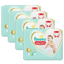 Pampers - Mega pack 114 Couches Premium Protection Pants taille 4 sur Couches Poupon