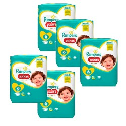 Pampers - Pack 74 Couches Premium Protection Pants taille 6 sur Couches Poupon