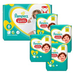 Pampers - Mega pack 185 Couches Premium Protection Pants taille 6 sur Couches Poupon