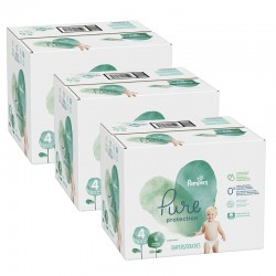 Pampers - Pack 76 Couches Pure Protection taille 4