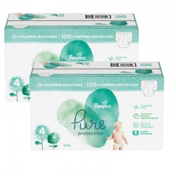 Pampers - Mega pack 133 Couches Pure Protection taille 4