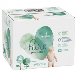 Pampers - Giga pack 266 Couches Pure Protection taille 4