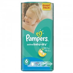 Pampers - 24 Couches Active Baby Dry taille 6 sur Couches Poupon