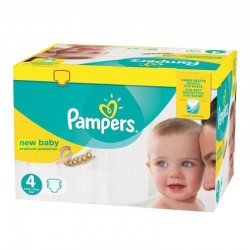 Pampers - Maxi mega pack 480 Couches New Baby Premium Protection taille 4 sur Couches Poupon
