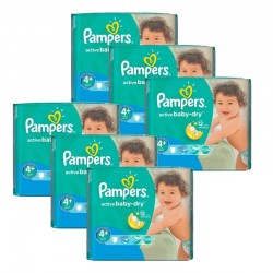 Pampers - Mega pack 120 Couches Active Baby Dry taille 4+ sur Couches Poupon