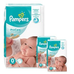 Pampers - Mega pack 152 Couches ProCare Premium protection taille 0