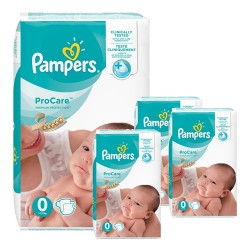 Pampers - Giga pack 228 Couches ProCare Premium protection taille 0 sur Couches Poupon