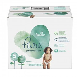 Pampers - Giga pack 289 Couches Pure Protection taille 5 sur Couches Poupon