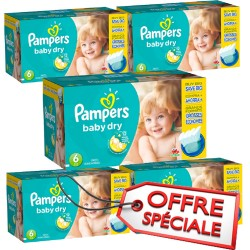 Pampers - Giga pack 228 Couches Baby Dry taille 6 sur Couches Poupon