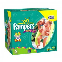 Pampers - Pack jumeaux 684 Couches Baby Dry taille 6 sur Couches Poupon
