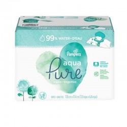 Pampers - Maxi giga pack 384 Lingettes Bébés Aqua Pure sur Couches Poupon