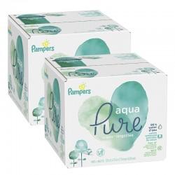 Pampers - Pack jumeaux 768 Lingettes Bébés Aqua Pure sur Couches Poupon