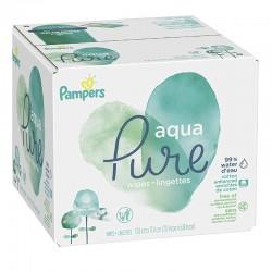 Pampers - Pack jumeaux 960 Lingettes Bébés Aqua Pure sur Couches Poupon