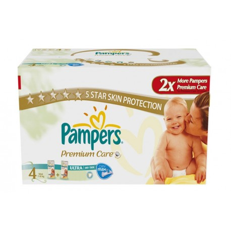Pampers - Giga pack 220 Couches New Baby Premium Care taille 4 sur Couches Poupon