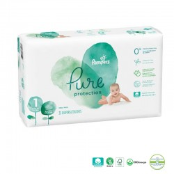 Pack 50 Couches Pampers Pure Protection taille 1 sur Couches Poupon