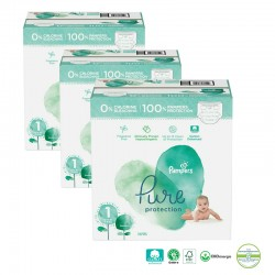 Pampers - Giga pack 200 Couches Pure Protection taille 1 sur Couches Poupon