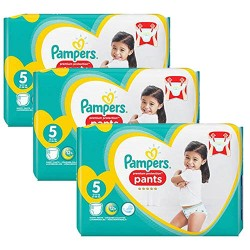 Pampers - 136 Couches Premium Protection Pants taille 5 sur Couches Poupon