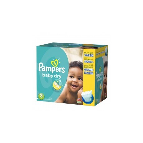 Pampers - Mega pack 152 Couches Baby Dry taille 3 sur Couches Poupon