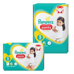 Pampers - 340 Couches Premium Protection Pants taille 5 sur Couches Poupon