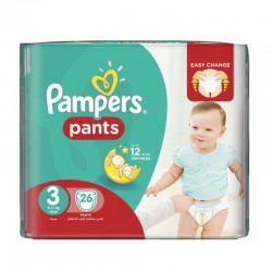 Pampers - 180 Couches Baby Dry Pants taille 3 sur Couches Poupon