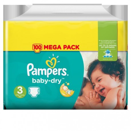 Pampers - Pack 90 Couches Baby Dry taille 3 sur Couches Poupon