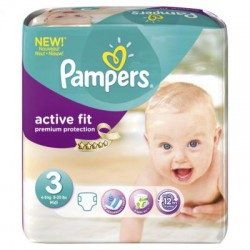 Pampers - Pack 68 Couches Active Fit taille 3 sur Couches Poupon