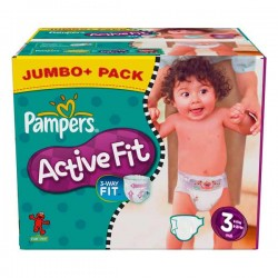Pampers - Giga pack 272 Couches Active Fit taille 3 sur Couches Poupon