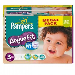 Pampers - 340 Couches Active Fit taille 3 sur Couches Poupon