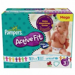 Pampers - Maxi mega pack 408 Couches Active Fit taille 3 sur Couches Poupon