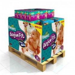 Pampers - 544 Couches Active Fit taille 3 sur Couches Poupon