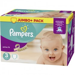 Pampers - 612 Couches Active Fit taille 3 sur Couches Poupon