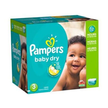 Pampers - Giga pack 266 Couches Baby Dry taille 3 sur Couches Poupon