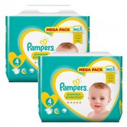 Pampers - Pack jumeaux 864 Couches New Baby Premium Protection taille 4 sur Couches Poupon