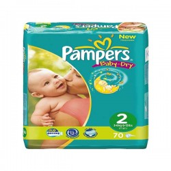 Pampers - Pack 33 Couches Baby Dry taille 2 sur Couches Poupon