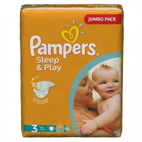 Pampers - Pack 78 Couches Sleep & Play taille 3 sur Couches Poupon