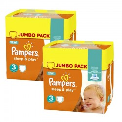 Pampers - Maxi giga pack 312 Couches Sleep & Play taille 3