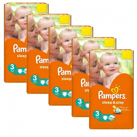 390 Couches Pampers Sleep & Play taille 3 sur Couches Poupon