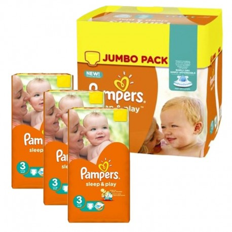 Pampers - Maxi mega pack 468 Couches Sleep & Play taille 3 sur Couches Poupon