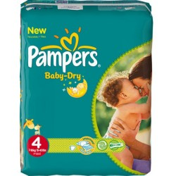 Pampers - Pack 78 Couches Baby Dry taille 4 sur Couches Poupon