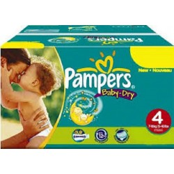 Pampers - Pack jumeaux 624 Couches Baby Dry taille 4 sur Couches Poupon