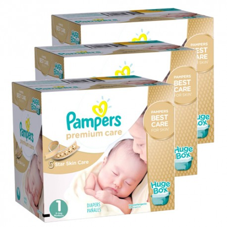 Pampers - Pack 66 Couches New Baby Premium Care taille 1 sur Couches Poupon